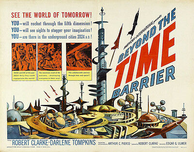Home Wall Art Print- Vintage Movie Film Poster -BEYOND TIME BARRIER- A4,A3,A2,A1