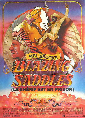 Home Wall Art Print - Vintage Movie Film Poster - BLAZING SADDLES - A4,A3,A2,A1