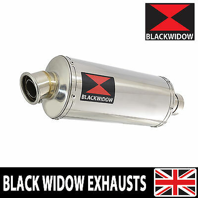 Black Widow Stainless Steel Exhaust Silencer End Can 300Mm Oval Slip On 300Ss