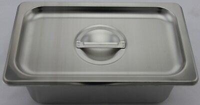 Stainless Steel Bain Marie Tray & Lid, 1/4 Size 100mm