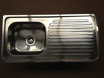 Stainless Steel Kitchen Sink - Single Square Bowl (100cmx50cm)
