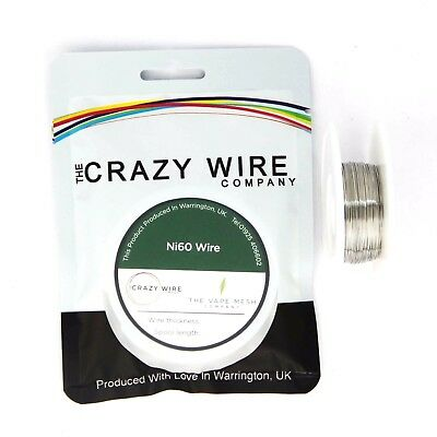 0.4mm (26 AWG) Ni60 (Nickel Chrome 60/15 (NiCR6015)) Wire  - 8.83 ohms/m