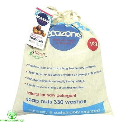 EcoZone Soap Nuts 1kg 330 Washes Eco Friendly Allergy Free Laundry Berries SN1KG
