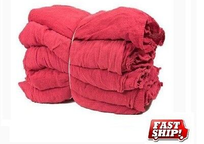 1000 Mechanics Rag Shop Rags Towels Red Large 13X14 Gmt Brand Heavy Duty