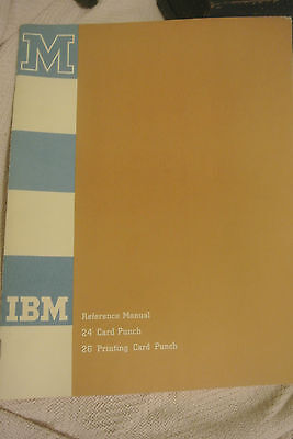 1959 IBM Reference Manual Operators Guide 24 PUNCH 26 PRINTING CARD PUNCH