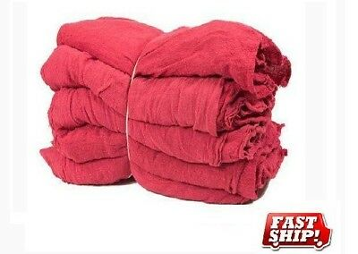 100 Mechanics Rag Shop Rags Towels Red Large 13X14 Gmt Brand Heavy Duty