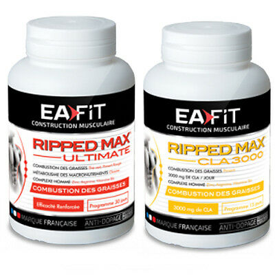Pack Ripped Max Ultimate + Ripped Max CLA3000 OFFERT ! Abdos bruleur de graisse