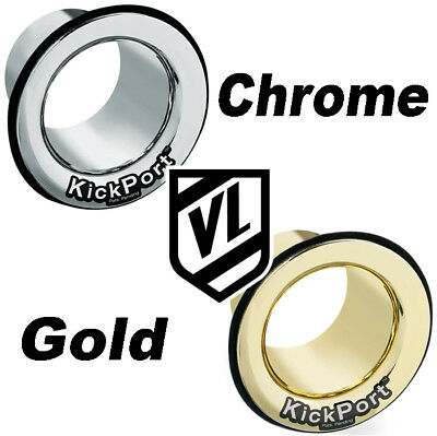 KickPort Bass Drum Hole Sound Enhancer  CHROME or GOLD