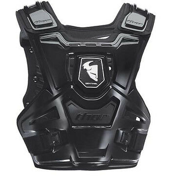 New Thor Sentinel Motocross Mx Offroad Chest Protector Black Size Adult