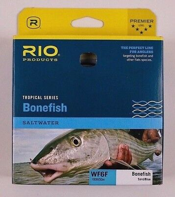 Real Bonefish Fly Fishing Line WF8F Sand//Blue 2 Welded Loop Special Design