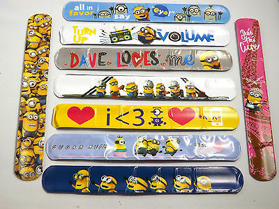 Minion Slap Band Rulers, Ideal Party toys - Collect them all !! Latest craze!!!