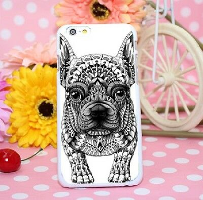 French Bulldog iPhone 6 6s Hard Case Black and White Frenchie Lover Cover, Dog