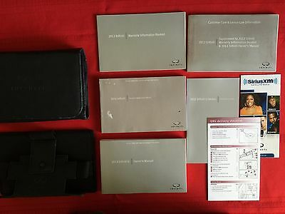 2012 Infiniti G Factory Owners Manual Set and Case