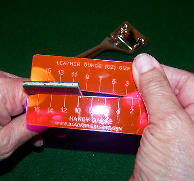 Handy Gauge - Leather Oz Gauge Craftaid For Leather Craft