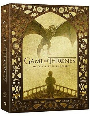 Game Of Thrones: The Complete Fifth Season - 5 DISC SET (2016, REGION 1 DVD New)