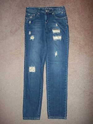 I LOVE JUSTICE SIMPLY LOW JEANS SIZE 14S (kids) DENIM 26X30 1/2