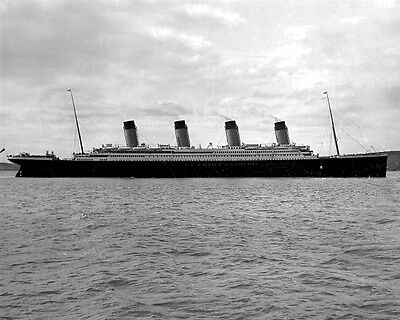 New 11x14 Photo: Side View of RMS TITANIC Ship, Ill-Fated Ocean Liner - 1912