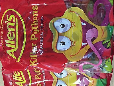 Allens Killer Pythons 1Kg Bulk Bag Snake Candy Lolly Party Buffet