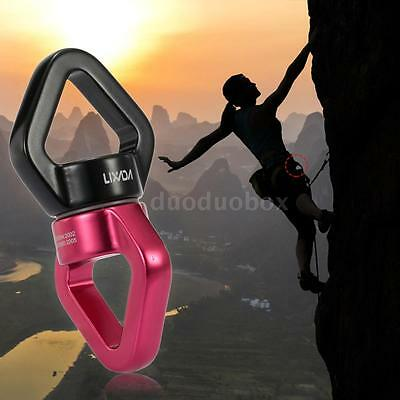 LIXADA 30kN Rope Swivel Connector Sealed Bearing Rescue Climbing Dependable Y6U4