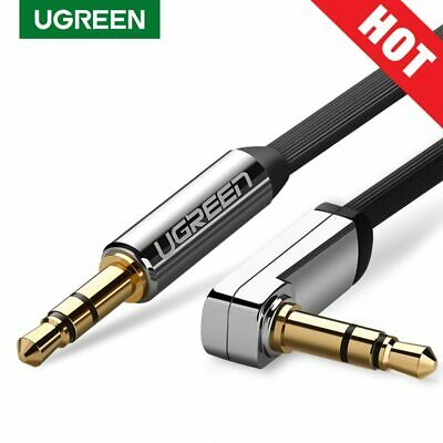 Ugreen 3.5mm Audio Cable 90 Degree Right Angle Flat Jack For Car iPhone MP3/4