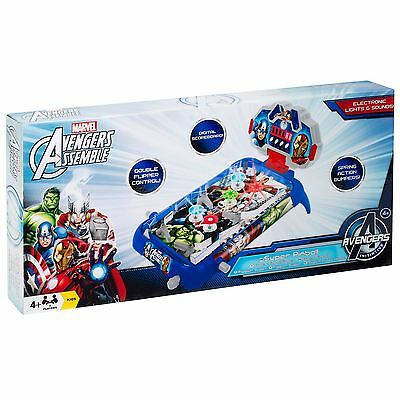 Marvel Avengers Assemble Kids Super Pinball Game Table Top Fun Toy Gift Playset