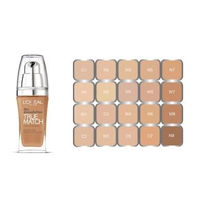 L'Oreal True Match The Foundation SPF17 30mL - Choose Your Shade