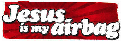 jesus is my airbag surf type sticker / decal great for your surfboard