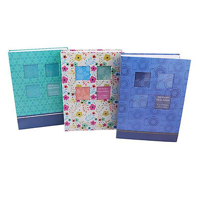 """Photo Album Holds Fashion Slip In 200 Capacity 5 x 7"""" Pictures With Window"""