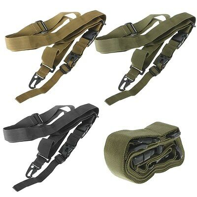 Sangle Tactique Réglable Sling 3 Point Swiss Snap Hook Paintball Airsoft Nylon