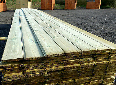 £1.29 Per Metre TANALISED A Grade Redwood Tongue And Groove Timber Cladding PTGV