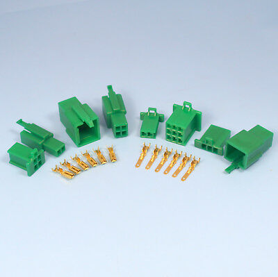 Quality 2.8mm Green Mini Connector Kits 2 3 4 6 9 Way Motorbike Motorcycle Car