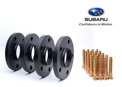 4pc 20mm Black Hubcentric 5x100 Wheel Spacers for Subaru with Knurl Studs