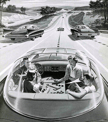 "Driverless Car of the Future  11 x 14""  Photo Print"