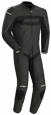 Cortech Flat Black Mens Medium US 40-42, EU 52 Latigo Leather Motorcycle Suit
