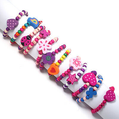 12 x GIRLS PRINCESS PARTY BAG FILLERS kids Bracelets Gifts favours Jewellery 12P