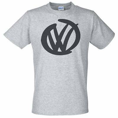 camiseta gris con VW Logo - Golf Camper Polo GTI Beetle T5 T4 Volkswagen