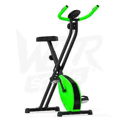 Folding Magnetic Exercise Bike Fitness Cardio Workout Weight Loss Machine -Green