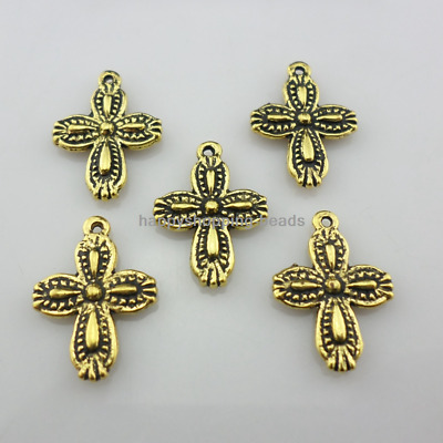 20/40/300pcs Ancient Gold Jewelry Making cross Charms Pendants 13x18mm