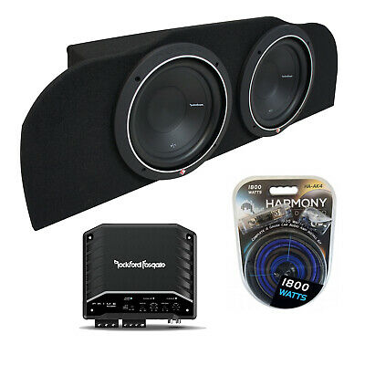 03-15 Fits Infiniti G35 Coupe Rockford P1S410 Subwoofer Dual 10 Sub Box R500X1D