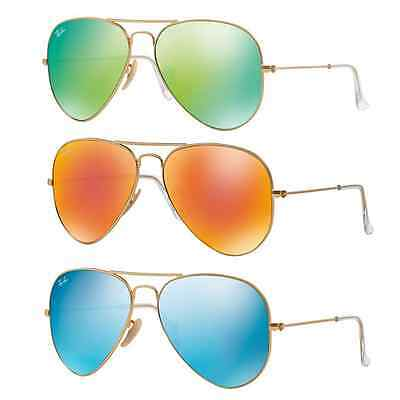 Ray Ban RB3025 Large Aviator Sunglasses Arista Gold Frame