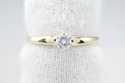 Women's 1/5 ct GIA Spec D/VVS2 Diamond Solitaire Ring in 14k Solid Gold