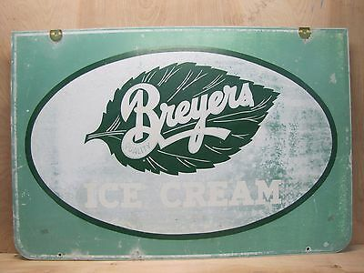 Old Breyers Ice Cream Sign large double sided country store ice cream shoppe