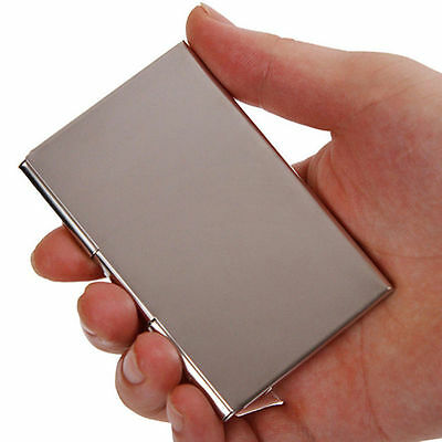 Stainless Steel Business ID Credit Card Wallet Holder Metal Pocket Case Box yun
