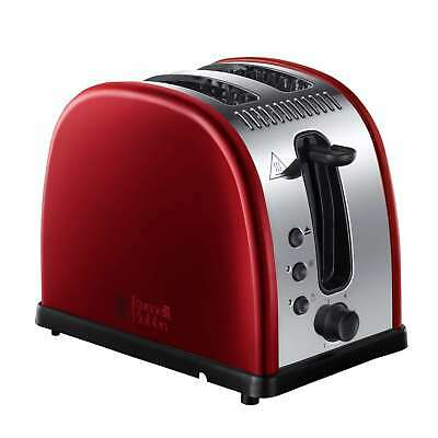Russell Hobbs 21291 Legacy 2 Slice Wide Slot Defrost/Reheat Toaster in Red