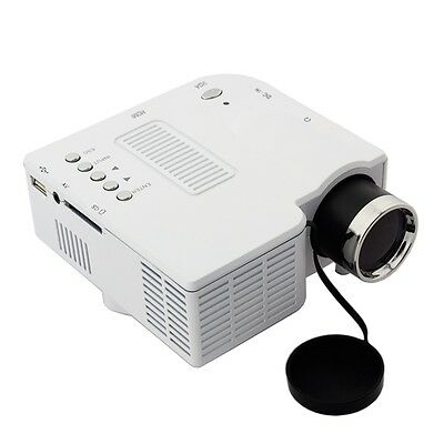Mini 1080P HD Multimedia LED Projector Home Cinema Support AV TV VGA HDMI