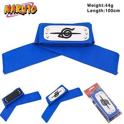 Naruto Leaf Village Ninja Konoha Headband Uchiha Itachi Cosplay Headbands Blue