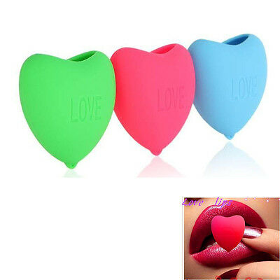 Sexy Lady Heart Shape Lip Plumper Fuller Enhancer Silicone Smooth Pump Up Tools