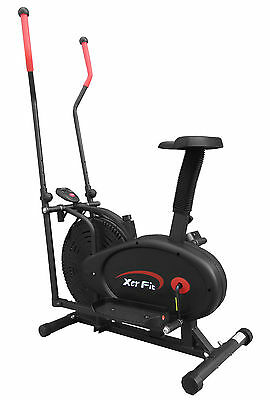XerFit™ 2-in-1 Elliptical Cross Trainer with Seat cardio fitness Exercise Bike