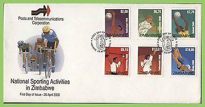 Zimbabwe 2000 Sports set on First Day Cover