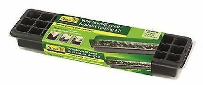 Windowsill plant / seed raising kit, with seed tray, cell insert and clear lid.